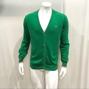 Lacoste Live Men's Green Cardigan Sweater